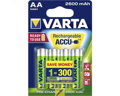 Аккумуляторы Varta 2600 mAh (4 шт)