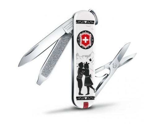 """Нож-брелок Victorinox Classic """"Alps Love"""" (0.6223.L1801)"""