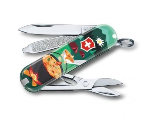 "Нож-брелок Victorinox Classic ""Swiss Mountain Dinner"" (0.6223.L1907)"