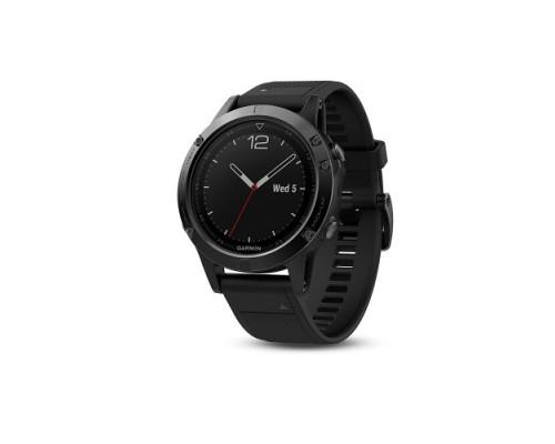 Умные часы Garmin Fenix 5 Sapphire черные с черным ремешком