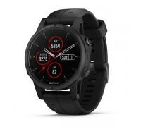 Умные часы Garmin Fenix 5s Plus Sapphire черные с черным ремешком