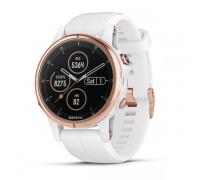 Умные часы Garmin Fenix 5s Plus Sapphire розовое золото с белым ремешком