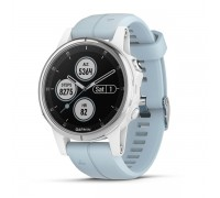 Умные часы Garmin Fenix 5s Plus белые с голубым ремешком