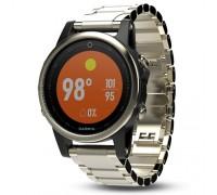 Умные часы Garmin Fenix 5s Sapphire шампань с металлическим браслетом
