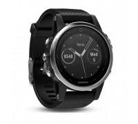 Умные часы Garmin Fenix 5s серебристые с черным ремешком