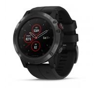 Умные часы Garmin Fenix 5x Plus Sapphire черные с черным ремешком