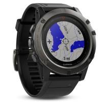 Умные часы Garmin Fenix 5x Sapphire серые с черным ремешком