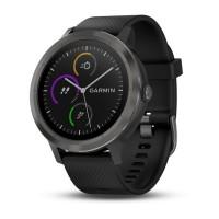 Умные часы Garmin vivoactive 3 черные с черным ремешком