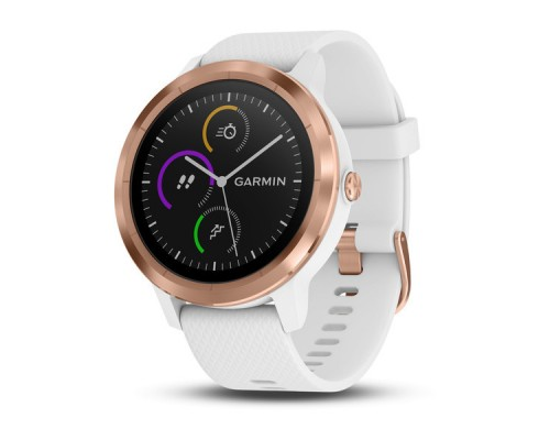 Умные часы Garmin vivoactive 3 золотистые с белым ремешком