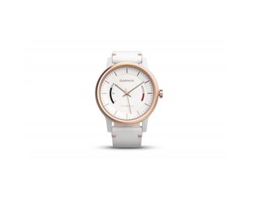 Умные часы Garmin vivomove Classic розово-золотистые с кожаным ремешком