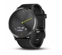 Умные часы Garmin vivomove HR черные с черным ремешком