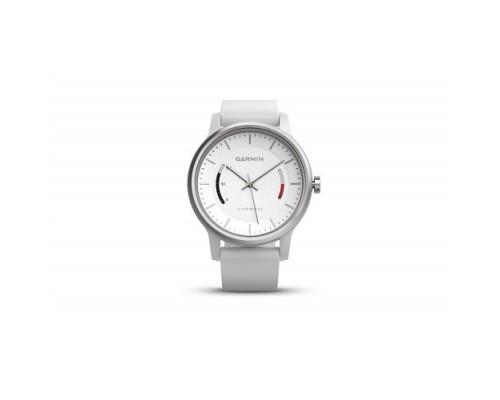 Умные часы Garmin vivomove Sport белые со спортивным браслетом
