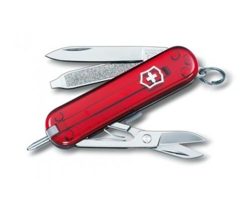 Нож брелок Victorinox Signature Red Trans (0.6225.T)